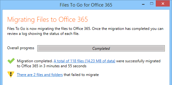 Office 365 SharePoint Online File Migration Tool